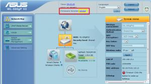 Administrační prostředí routeru Asus WL-500gP V2.